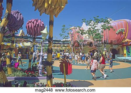 Pictures of Seuss Landing Islands of Adventure Universal Studios.