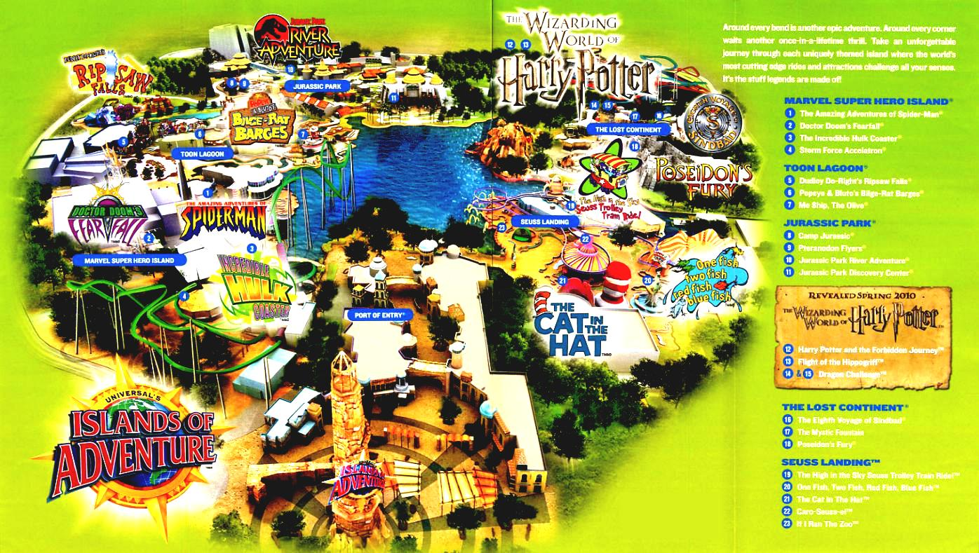 Adventure Map For Kids Universal S Islands Of Vacation Guide.