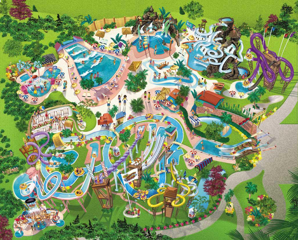 Adventure Map Island Florida Water Parks Com Park.