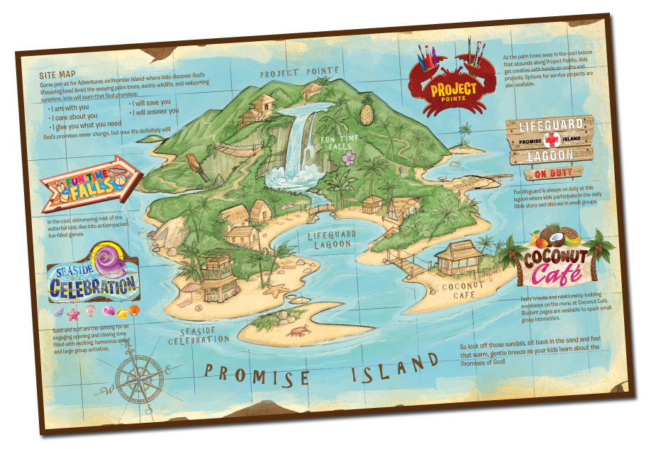 Adventures On Promise Island Clipart.