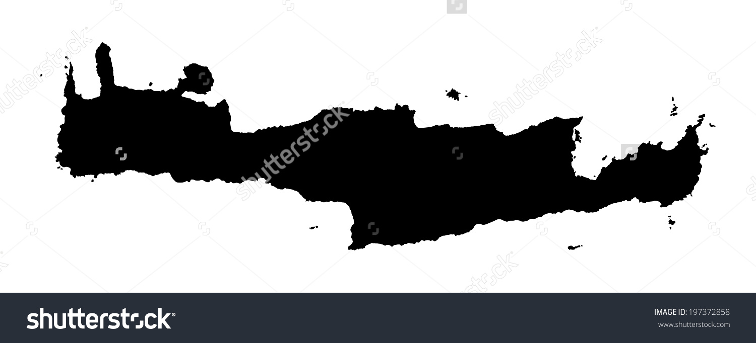 Crete map clipart.