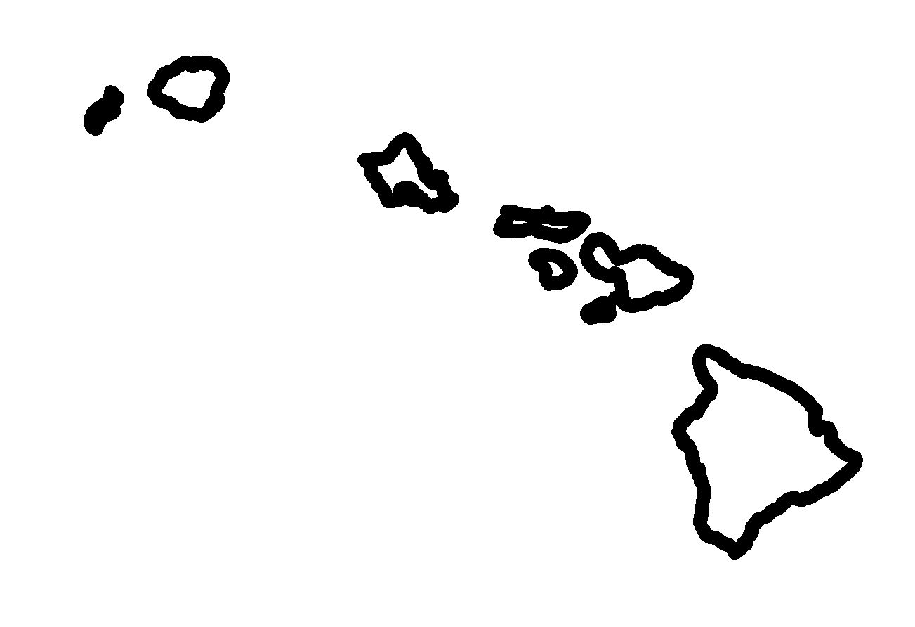 Hawaiian Islands Clipart.