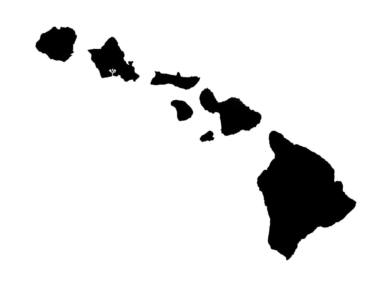 Hawaiian islands clip art.