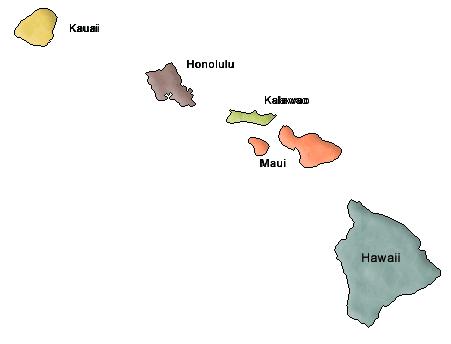 Hawaii clipart map.