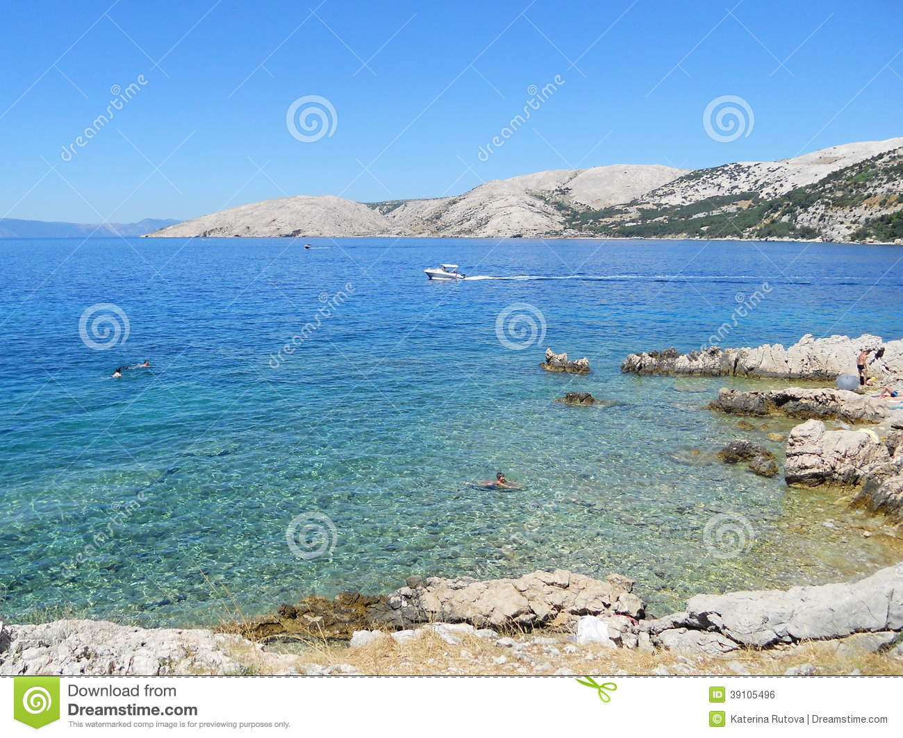Stara Baska, Croatia Stock Photo.