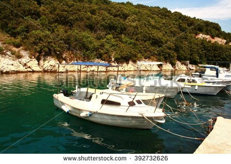 Croatia Krk Sea Port Stock Photos, Royalty.