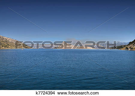 Stock Photo of Island of Krk bridge over Sea k7724394.