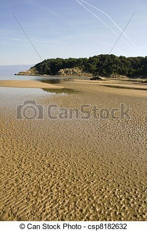 Stock Photo of Sahara desert in Rab, Croatian island.