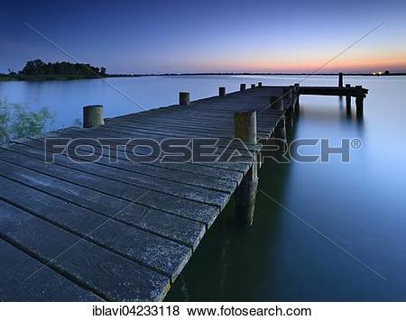 Pictures of Sunset at Peenestrom, bridge, Usedom Island.