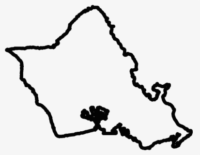 Free Island Black And White Clip Art with No Background.