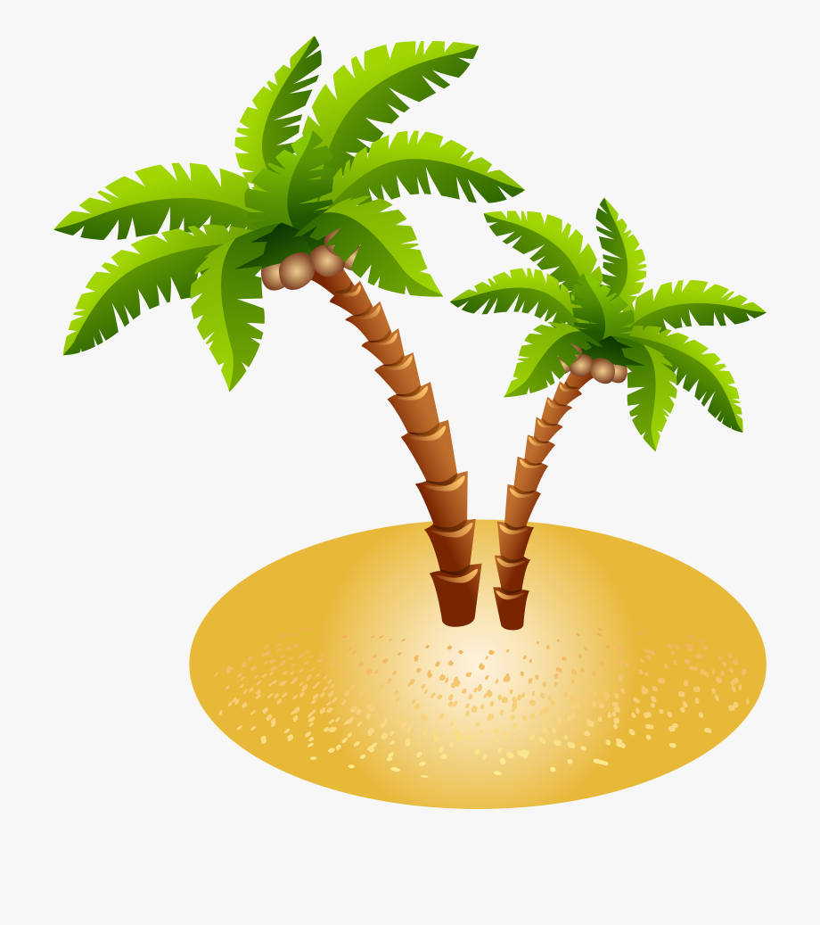 Sand Clipart Palm Tree.