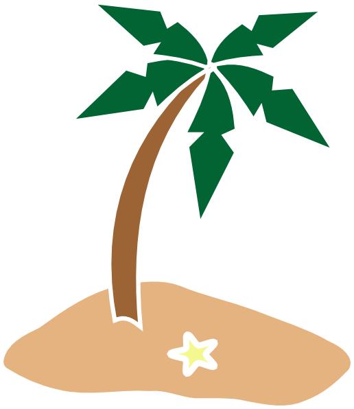 Palm Tree On Island Clip Art at Clker.com.