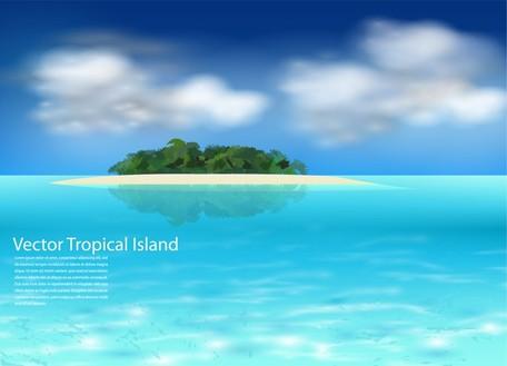 Sea Island, Vectors.