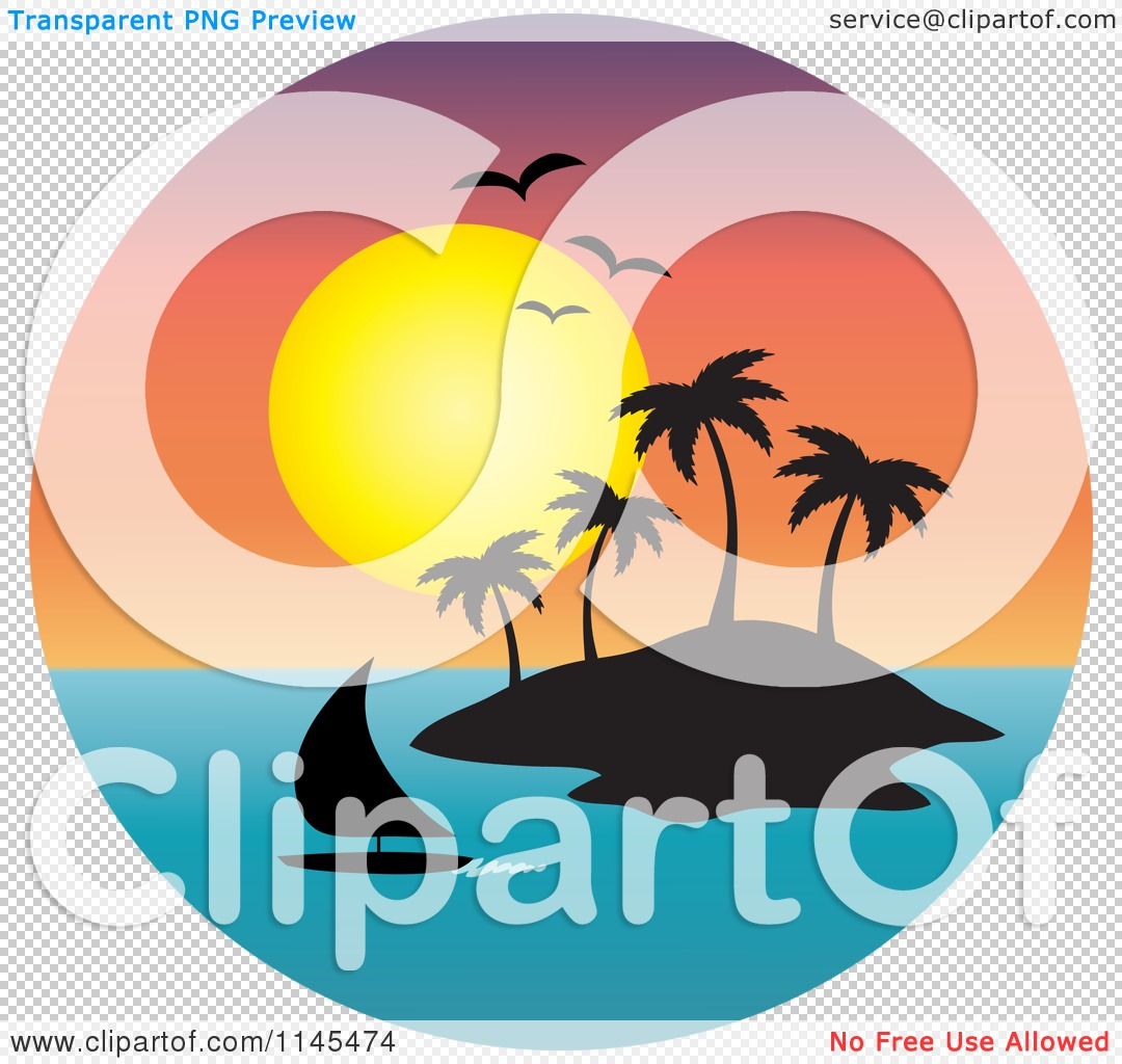clipart of island beach scenes.
