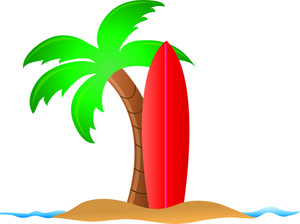 Palm Tree Island Clipart.