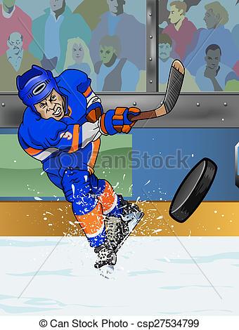 Stock Illustration of New York Islanders ice hockey player.