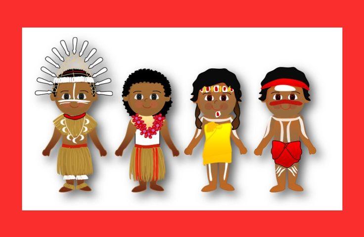 Islander kids clipart.
