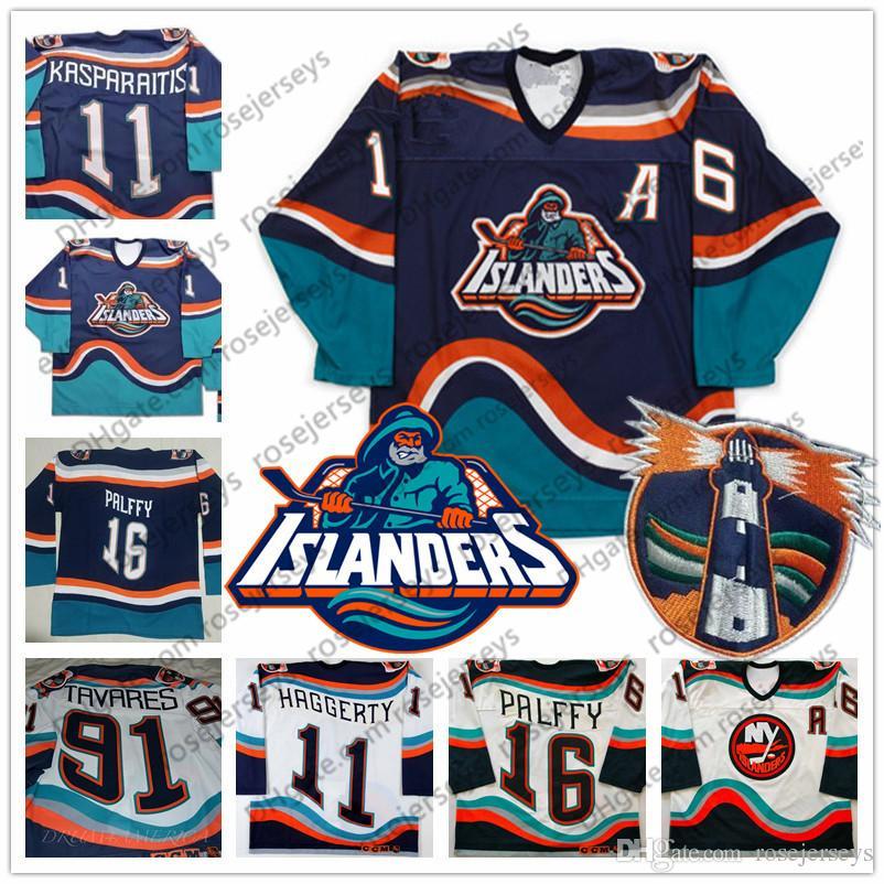 2019 Custom New York Islanders Fisherman #16 Ziggy Palffy 91 Tavares 11  Darius Kasparaitis Vintage Hockey Any Number Name Blue White Jersey 4XL  From.