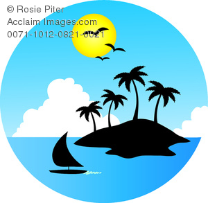 Tropical Island Clipart.