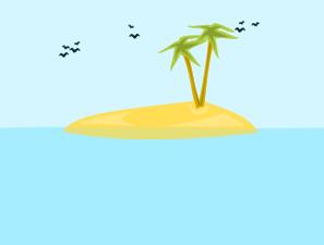 Tropical Island Clip Art at Clker.com.