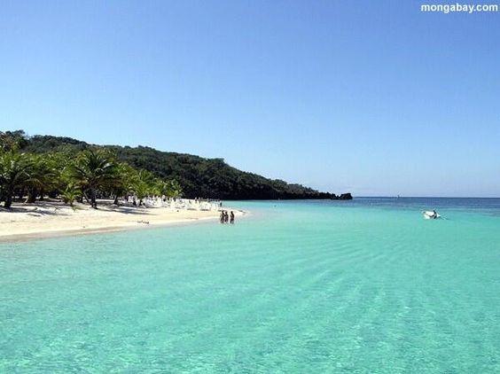 Aguas cristalinas en Roatan, Islas de la Bahia Honduras.