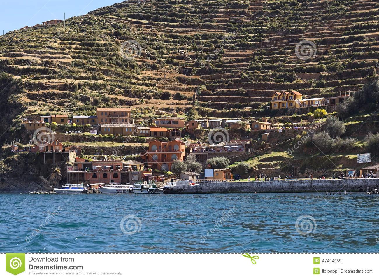 Yumani On Isla Del Sol In Lake Titicaca, Bolivia Editorial Stock.