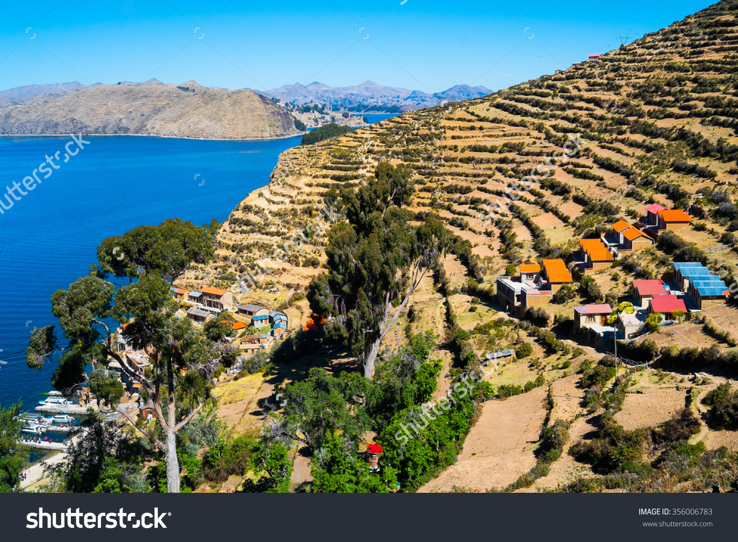 Village Yumani On Isla Del Sol Stock Photo 356006783.