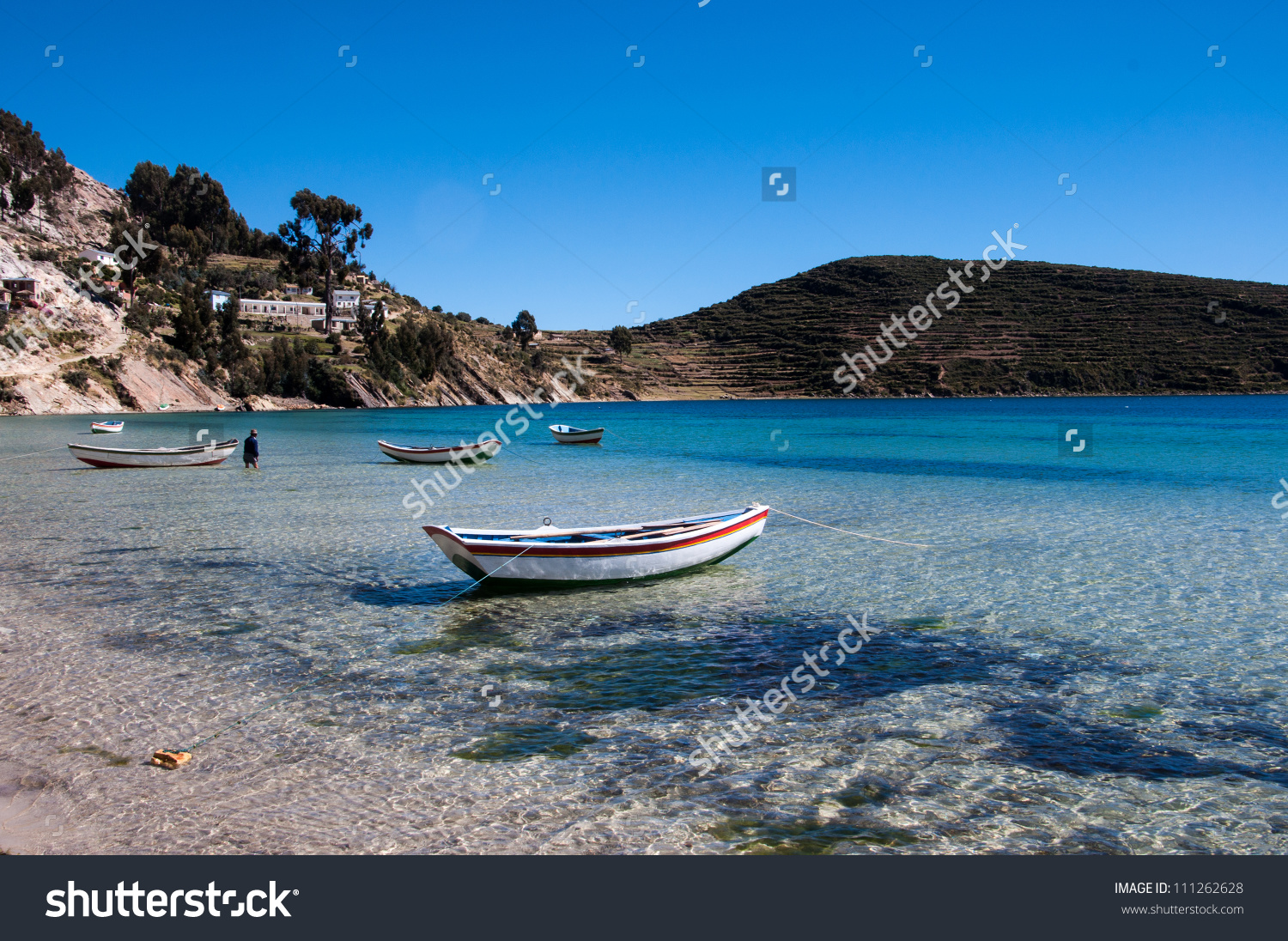 Beach On Isla Del Sol Copacabana Stock Photo 111262628.