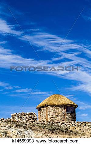 Stock Photo of Isla del Sol on the Titicaca lake, Bolivia.