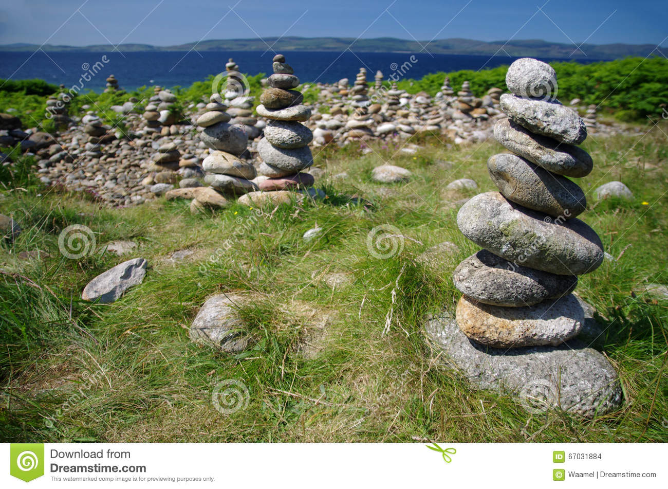 Pile Of Rocks On The Isle Of Arran (Scotland) Stock Photo.