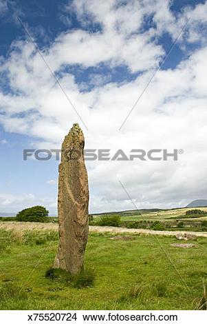 Stock Photo of Machrie Moor Standing Stones. Isle of Arran.