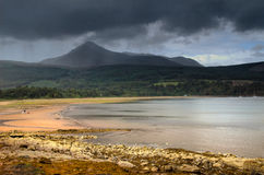 Brodick On The Isle Of Arran From Ferry Arriving Stock Photo.
