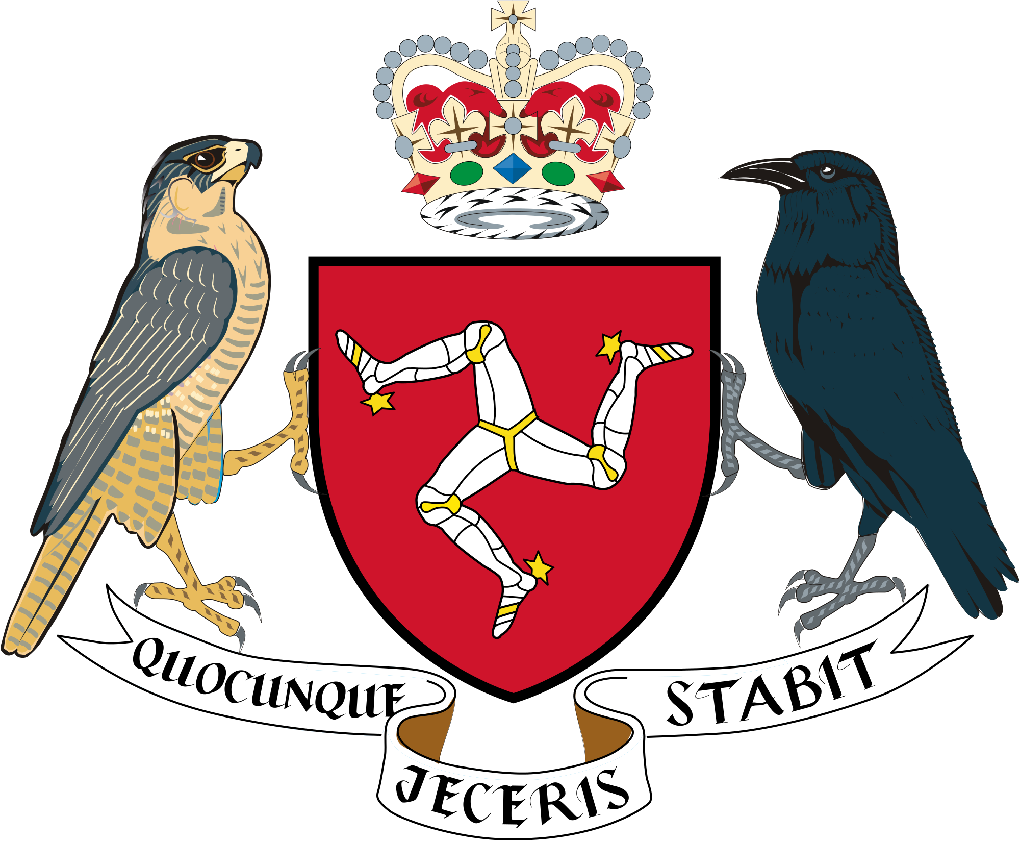 Coat of arms of the Isle of Man.