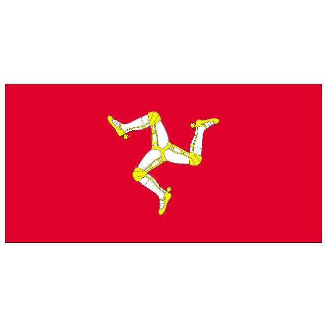 Isle of Man vector flag.