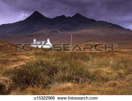 Stock Images of Scotland, Isle of Skye, Glen Sligachan, View of.