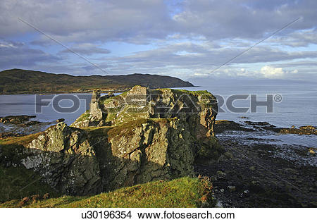 Stock Photo of Scotland, Highland, Portree, A view toward.
