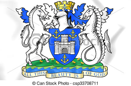 Clipart of Isle of Wight Coat of Arms, England..