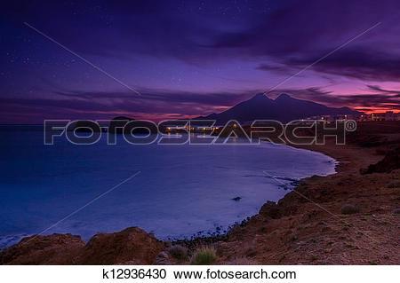 Stock Photography of La Isleta del Moro coast of the natural park.