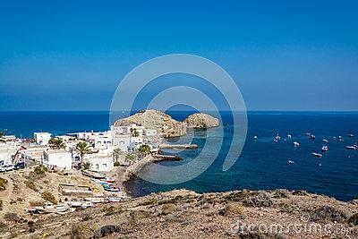 La Isleta Del Moro Village, Cabo De Gata, Nijar, Almeria Stock.