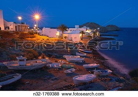 Pictures of Cabo de Gata, Isleta del Moro, fishing village, Cabo.