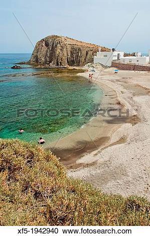 Stock Photography of Isleta del Moro Beach, Isleta del Moro, Cabo.