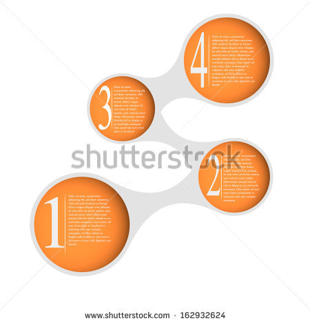 Infographics Template. Graphics Vector. Round Islets For Text And.