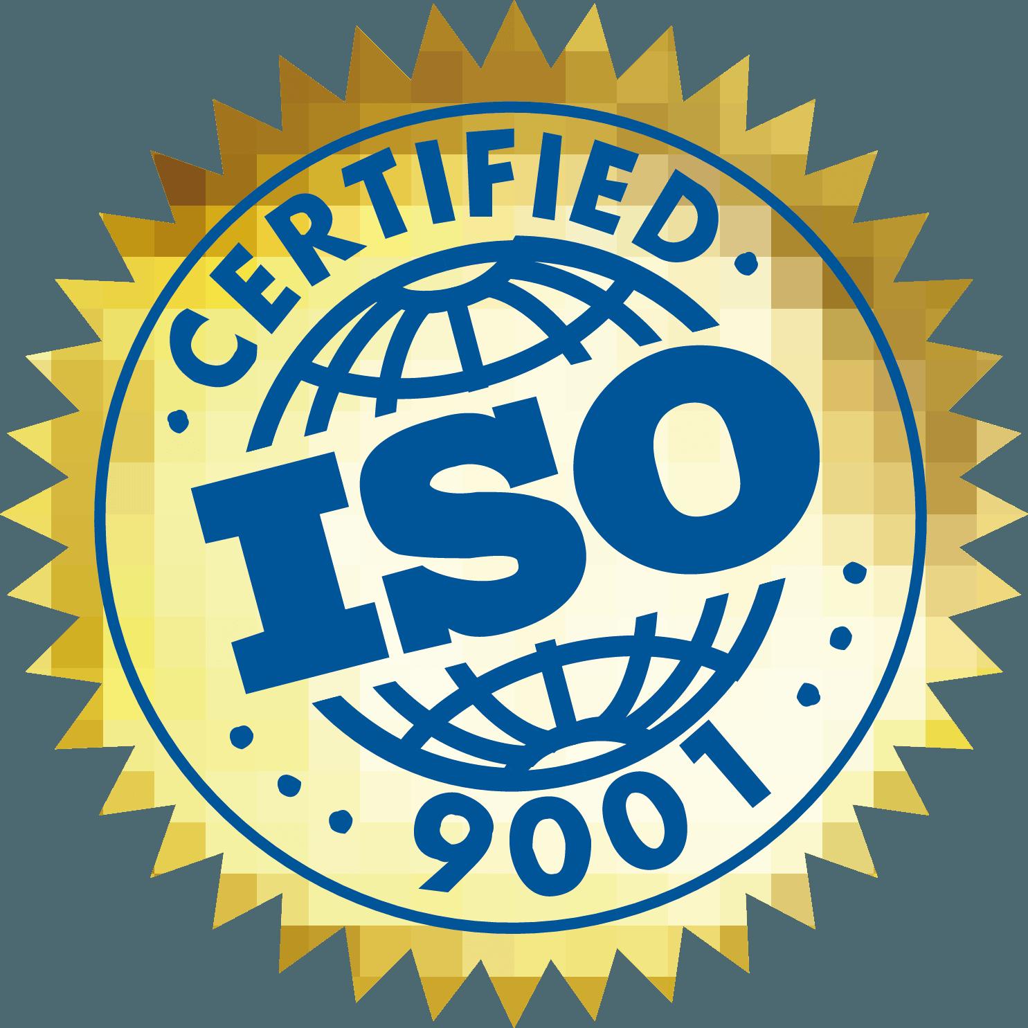 ISO 9001 Certified Logo Download Vector.