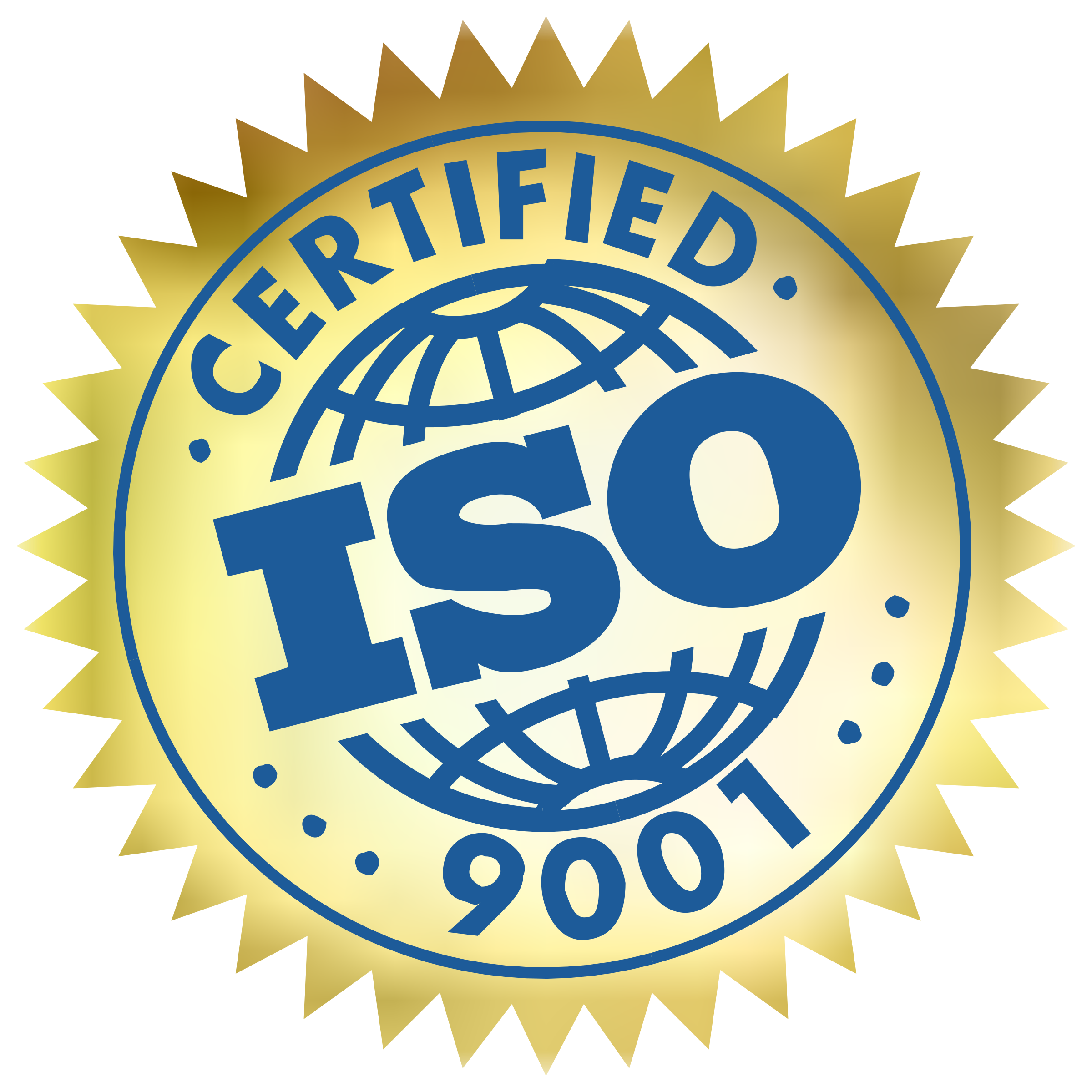 ISO 9001 Certified Logo PNG Transparent & SVG Vector.