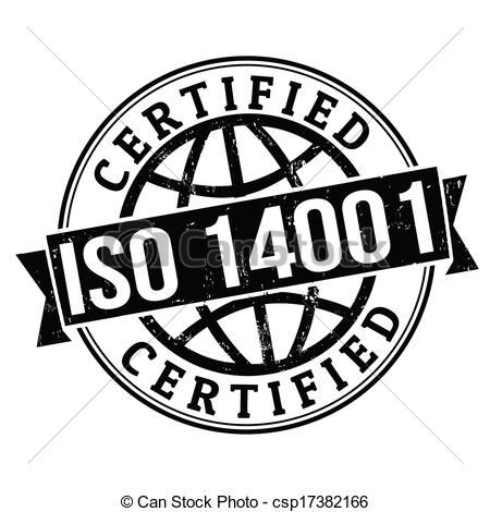 Clip Art Vector of ISO 14001 stamp.