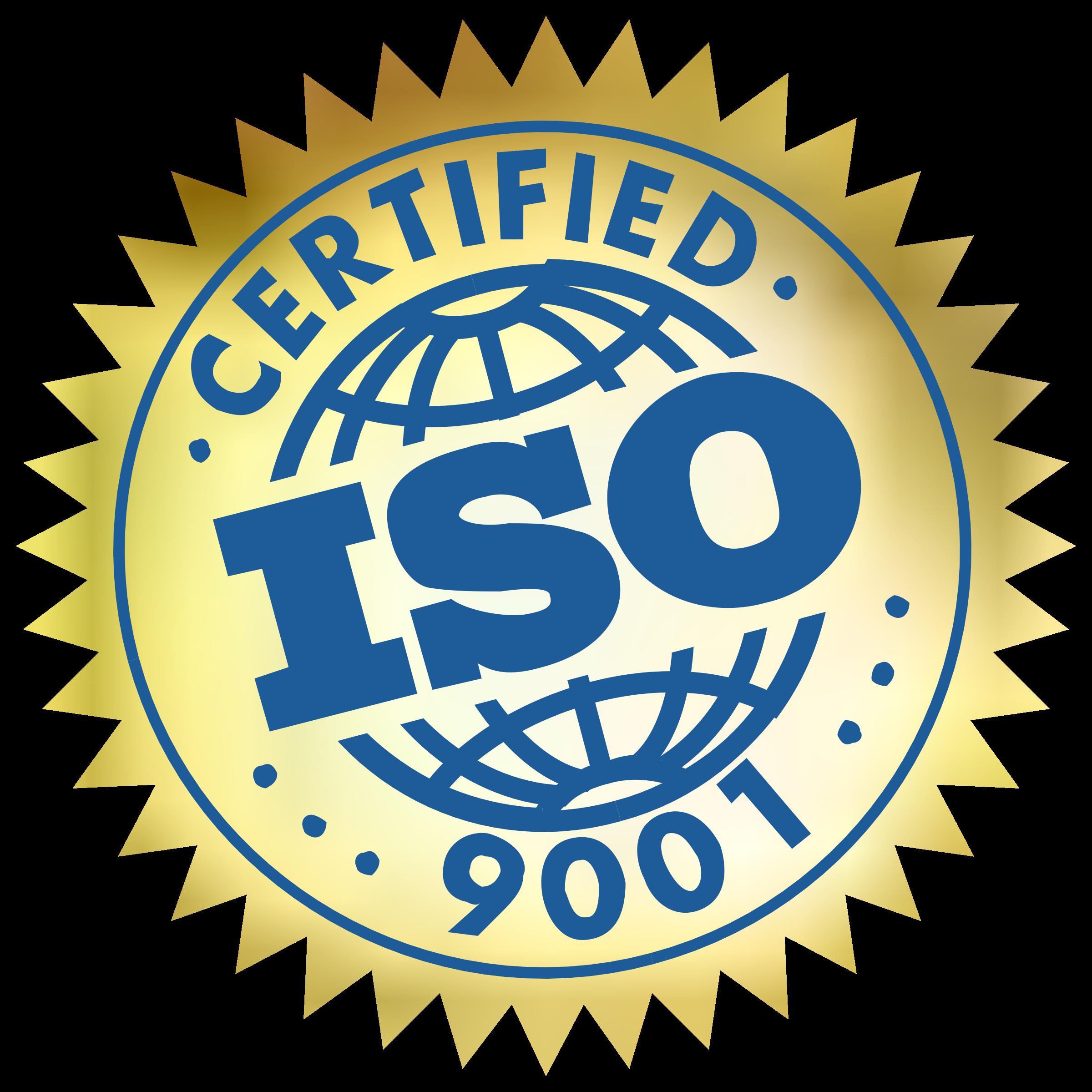 ISO 9001 Certified Logo PNG Transparent & SVG Vector.
