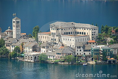 Lake Orta, Orta San Giulio, Italy Stock Photo.
