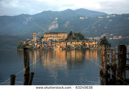 Island Orta San Giulio Italia Stock Photo 63245638.