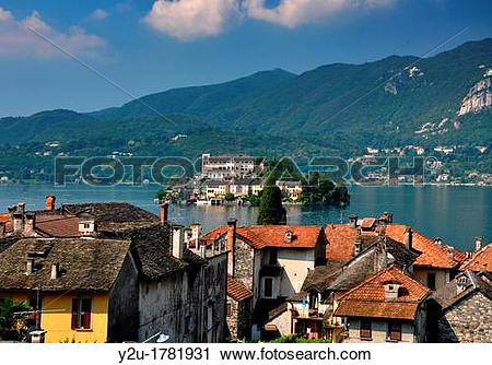 Stock Photography of Island san giulio in piedmont italy y2u.