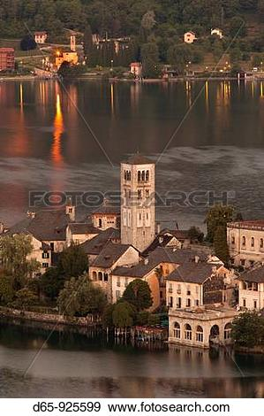 Stock Photograph of Italy, Piedmont, Lake Orta, Orta San Giulio.